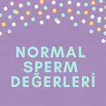 Normal sperm değerleri